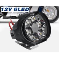 LAMPU TEMBAK SOROT SPION MOTOR LED SPOTLIGHT 6 TITIK 6W 12V UNIVERSAL