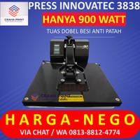 Mesin Press Kaos 38x38 Hitam - Alat Hotpress Sablon Baju Digital Murah