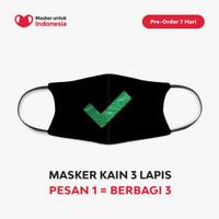 Masker Kain 3 Lapis (3 Ply) Earloop - Desain oleh Kick Avenue