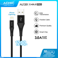 ACMIC AL120 Kabel Data Charger iPhone Lightning Fast Charging Cable