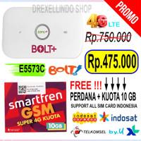 Modem mifi huawei E5573 4G Lte unlock plus quota smartfren