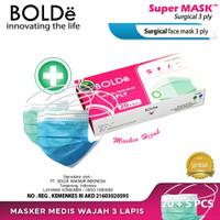 BOLDe Super Mask Surgical Hijab Headloop 3 ply (25 pcs)