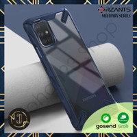 RZANTS MILITARY SAMSUNG A71 Case with Drop Protection - A71, Biru
