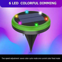 VKTECH Lampu Tanam LED Solar Panel Waterproof 6 LED Colorful - VL320