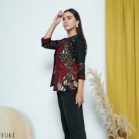 Yuki Top Jumbo - Atasan Batik Jumbo Wanita Lengan Panjang