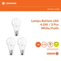 Osram Lampu Bohlam LED 4.5 Watt 3 Pcs - Putih