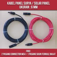 KABEL PANEL SURYA / KABEL SOLAR PANEL - 6MM (HARGA PER 5 METER) - 5 METER