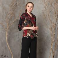 Viana Top Standar - Atasan Batik Wanita Lengan Panjang