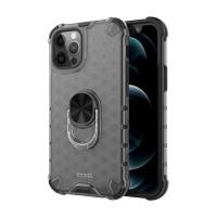ibacks Tavling + Finger Holder Premium Case for Iphone 12/12 Pro - Clear