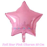Balon Foil Bintang Pink / Balon Foil Star / Balon Bintang