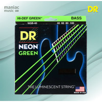DR Strings NGB-40 (Senar Bass Elektrik, Light, 40-100, Neon Green)