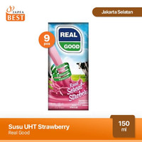 Susu UHT Strawberry Real Good 150 ml - Paket isi 9 Pcs