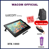 "Wacom Cintiq 16 DTK-1660/K1-CX 16"" Inch DTK 1660 K1 CX - Hitam"