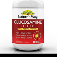 Nature's Way Glucosamine +Fish Oil Dual Action Formula 200capsules