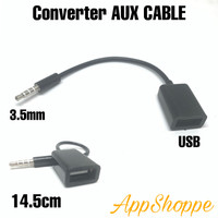 Jack 3.5mm Audio Plug To USB 2.0 OTG Adapter Converter AUX Cable