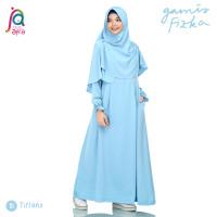 Gamis Syar'i Jilbab Afra Arfa Dress Busui Fizka Premium Crepe Tiffany
