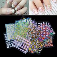 HN Collection - 3D Nail Sticker Transparent / Stiker kuku Motif Bunga