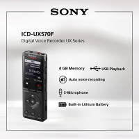 SONY ICD-UX570F Digital Voice Recorder / ICD UX570F / UX570 / UX-570