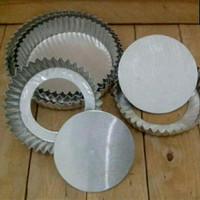loyang kue pie bongkar aluminium 1 set 5pcs tinggi 4cm