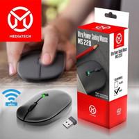 Mediatech Mouse Wireless Ultra Saving Power MS 220 / MS-220 - Hitam