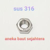 Mur Hex M10 (P 1.5) Stainless Steel 316