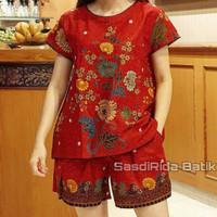 Setelan kulot |Babydol Jumbo Ld 120cm | atasan Blus Batik | Baju tidur