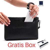 Handbag Pria Wanita / Tas Tangan / Pouch / Clutch Tas Gadget Hand Bag - Hitam