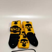 strap gitar &bass import motif tengkorak