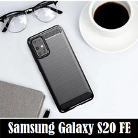 Samsung Galaxy S20 FE Brushed Carbon Armor Soft Case Casing Cover