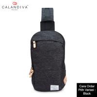 Calandiva Tas Selempang Pria Cross Body Sling Bag Travel Trendy - MS3