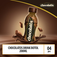 CHOCOLATOS DRINK RTD Kemasan Botol - 200 ml (ISI 4 BOTOL - BRINK2)