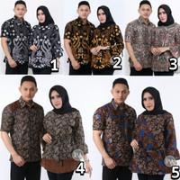 sarimbit batik couple atasan hem blouse