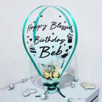 Hot Air Balloon Birthday / Balon dan 6 pcs Coklat Ferrero - BL1020