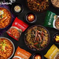 Samyang New Topokki Bulgogi Jjajang Kimchi 80g Logo Halal