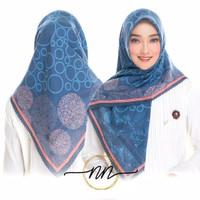 Jilbab hijab instan kerudung murah Segi Empat Voal Motif Ori NN