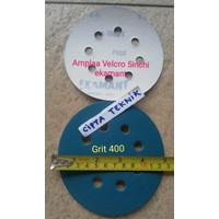 Amplas velcro 5 inchi Grit 400 Ekamant 8 lubang
