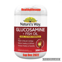 Nature's Way Glucosamine + Fish Oil 200 Soft Capsules