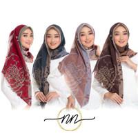 Jilbab hijab kerudung instan Segi Empat Poton Fine Motif 1 2 Ori NN