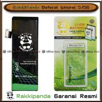 Baterai Iphone 5 5G Double Power Batre HP Rakkipanda Original