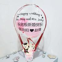 Hot Air Balloon Wedding Gift / Balon dan Boneka Couple - BL1020