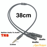 Audio Splitter Connecter 3.5MM TRS Earphone Jack 1 Male to 2 Female