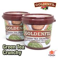 Goldenfil Green Tea Crunchy Spread Selai Olesan Renyah 1 kg
