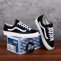 Sepatu Vans Oldskool OG LX Style 36 Black White Hitam Putih