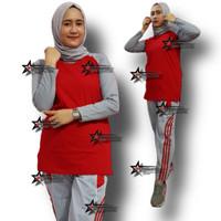 Setelan Baju Olahraga Muslim/Setelan Kaos Olahraga Muslim