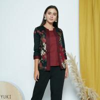 Yuki Top Standar - Atasan Batik Wanita Lengan Panjang