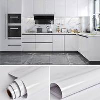 Wallpaper Sticker Dapur Dan Kamar Mandi Premium Glossy Putih Polos