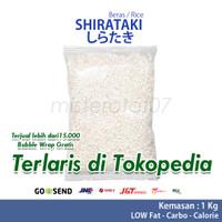 Shirataki rice low carbs / beras shirataki kemasan 1000gr / 1KG