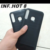 INFINIX HOT 8 X650C NEW SOFTCASE SLIM FIT SPIGEN CARBON