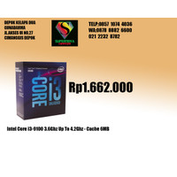 Intel Core i3-9100 3.6Ghz Up To 4.2Ghz - Cache 6MB [Box]