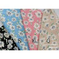 Kain Katun Jepang Tokai Rayon Twill Tencel Japan Design motif Chrysant